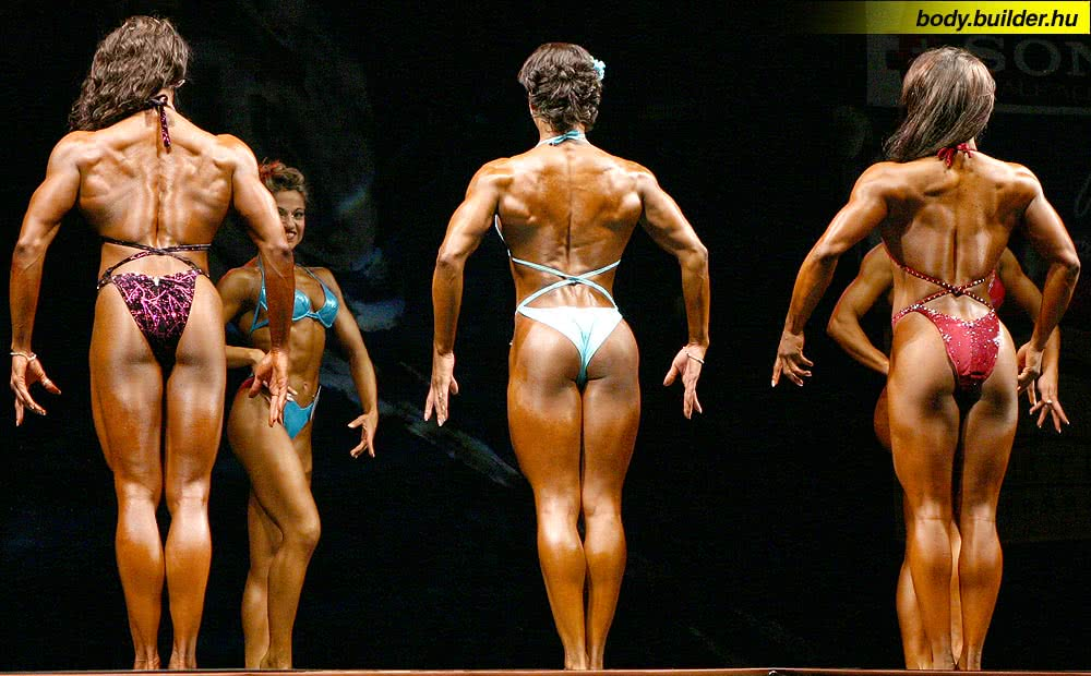 Hungarian Pro Fitness 2004, Round 1, Stacy Simons, Klaudia Kinska, Tanji Johnson