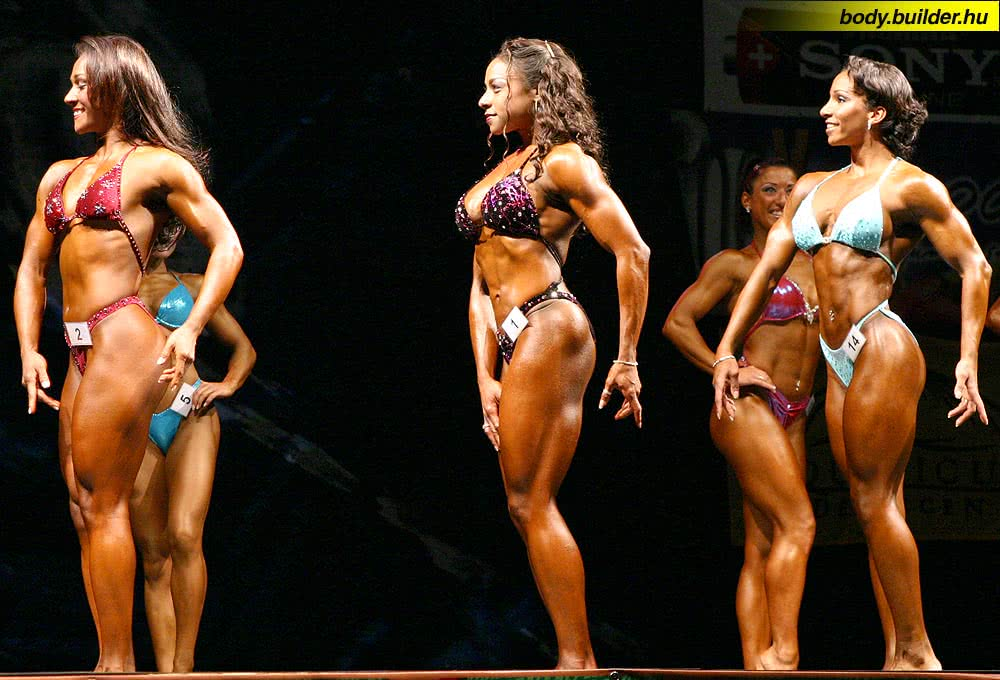 Hungarian Pro Fitness 2004, Round 1, Tanji Johnson, Stacy Simons, Klaudia Kinska