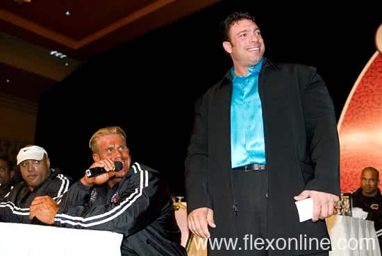 Mr. Olympia 2005, Press Conference, Jay Cutler