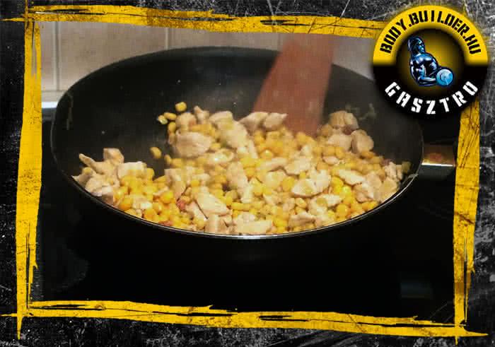 villámgyors póréhagymás csirke recept elkészítés - II. lépés