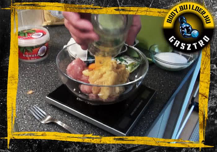 Almás csirkefasírt elkészítés - I. lépés
