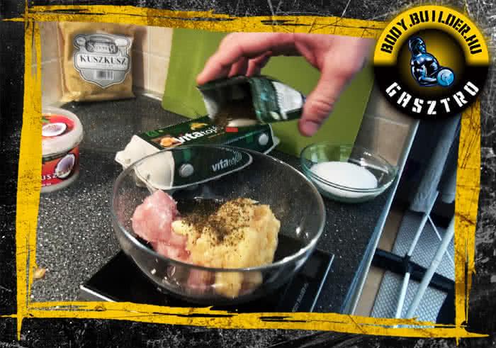 Almás csirkefasírt elkészítés - II. lépés
