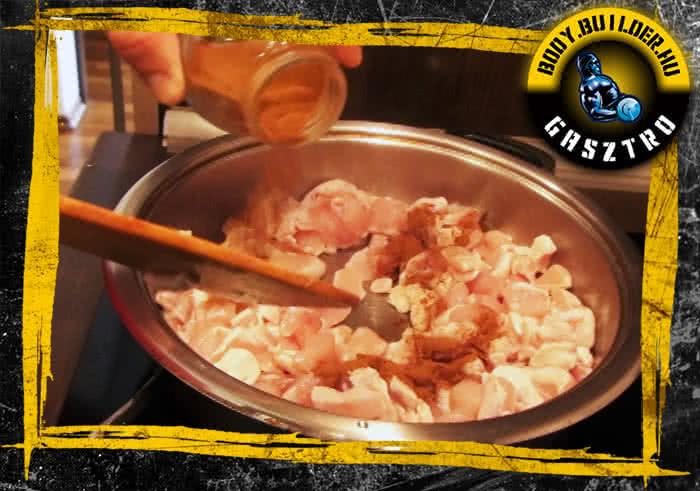Almás-fahéjas csirkemell elkészítés - II. lépés