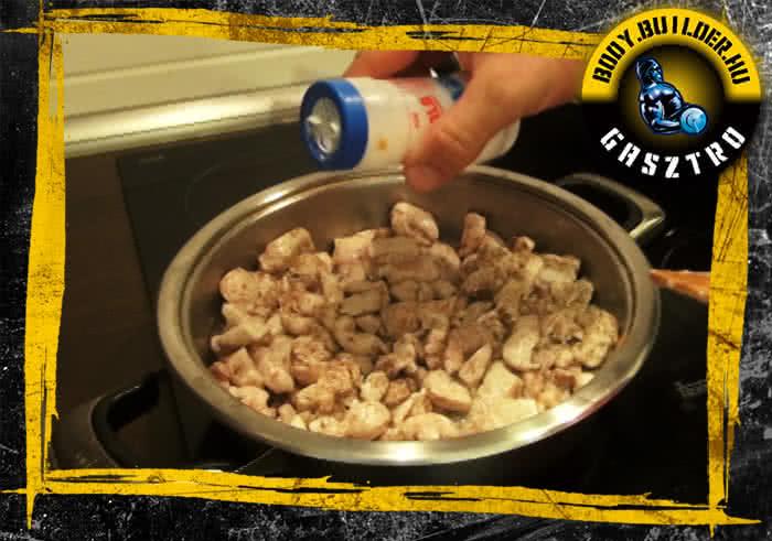Almás-fahéjas csirkemell elkészítés - III. lépés