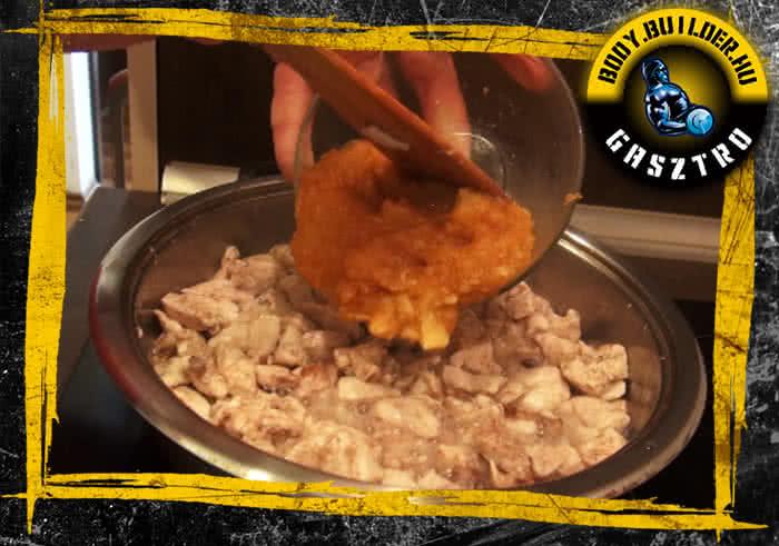 Almás-fahéjas csirkemell elkészítés - IV. lépés