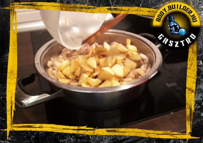 Almás-fahéjas csirkemell elkészítés - VI. lépés