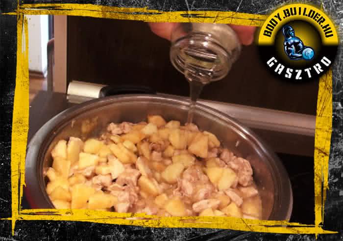 Almás-fahéjas csirkemell elkészítés - VII. lépés