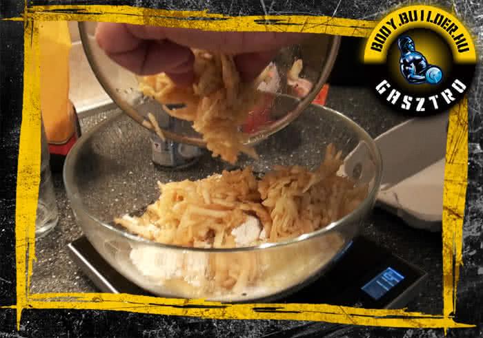 Almás protein pancake elkészítés - II. lépés