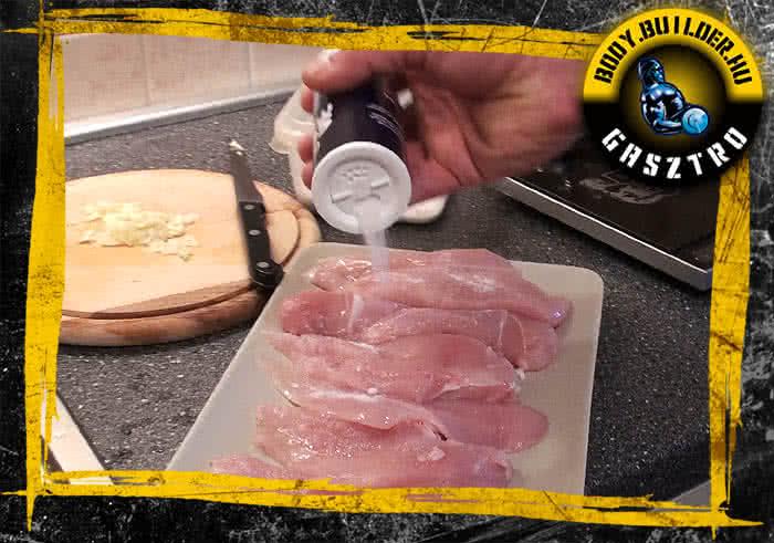 Avokádós csirke elkészítés - I. lépés