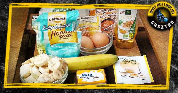 Banánkenyér recept - hozzávalók