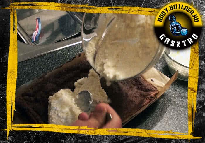 Banános tekercs recept elkészítés - III. lépés