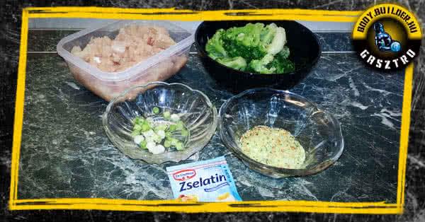 Brokkolis csirkekocsonya recept - hozzávalók