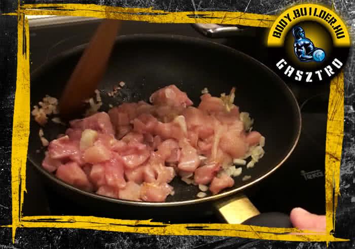 Citromos fokhagymás csirke elkészítés - III. lépés