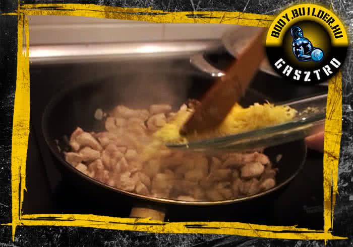 Citromos fokhagymás csirke elkészítés - IV. lépés