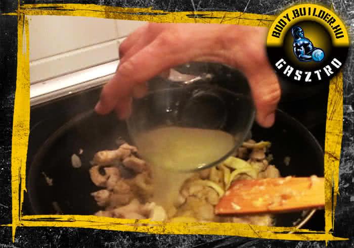 Citromos fokhagymás csirke elkészítés - V. lépés