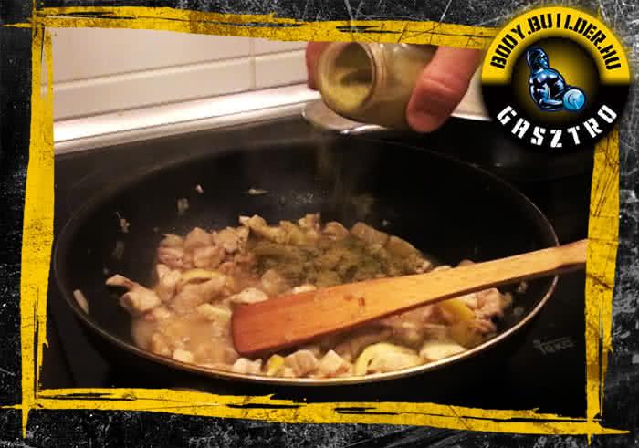 Citromos fokhagymás csirke elkészítés - VII. lépés