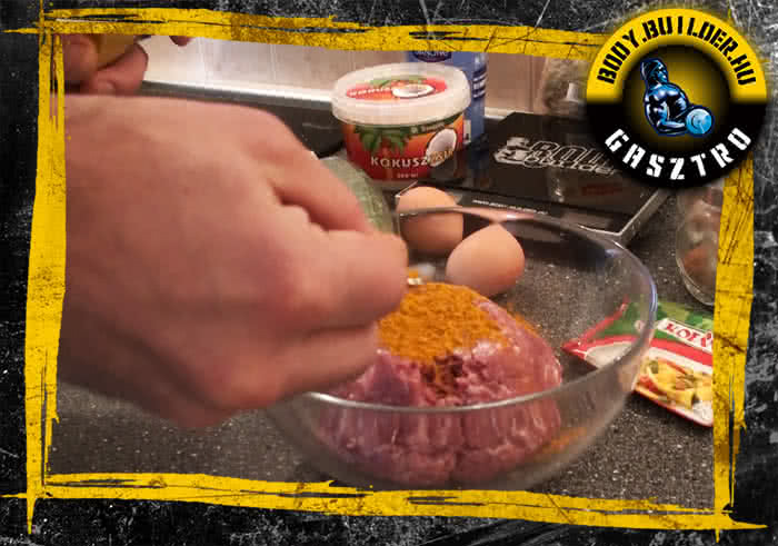 Csirkegolyó elkészítés - I. lépés