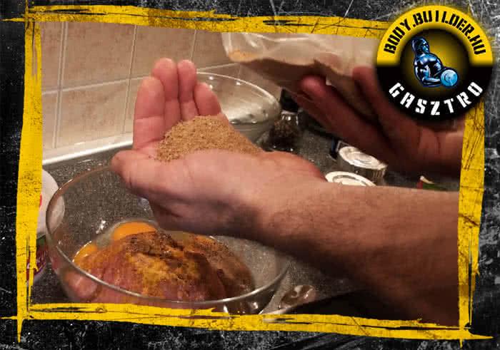 Csirkegolyó elkészítés - III. lépés
