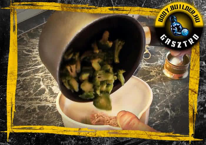 Brokkolis csirkepüré elkészítés - I. lépés