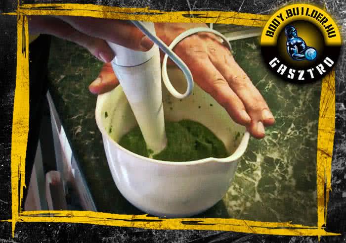 Brokkolis csirkepüré elkészítés - II. lépés
