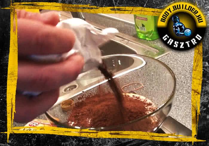 Ízületbarát csokis süti elkészítés - III. lépés