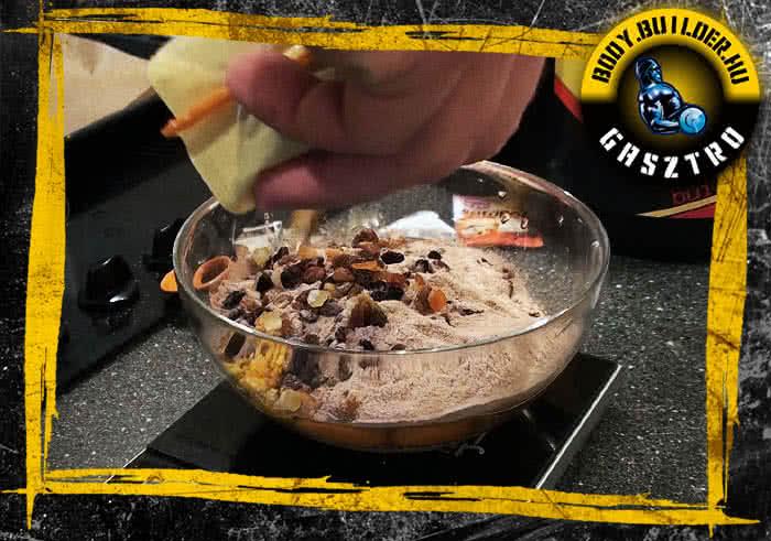 Csokis-zabpelyhes falatok elkészítés - III. lépés