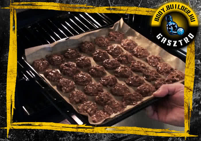 Csokis-zabpelyhes falatok elkészítés - VI. lépés