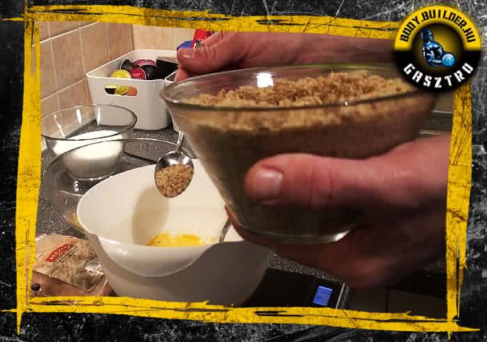 Diós süti elkészítés - II. lépés