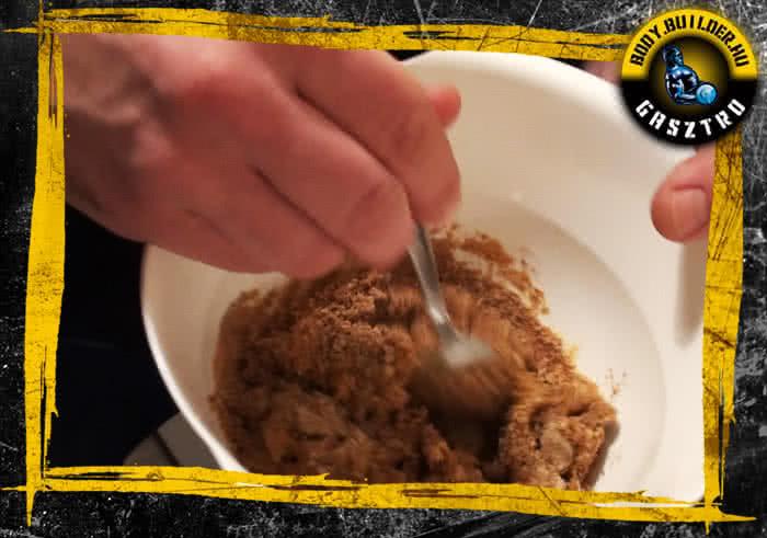 Diós süti elkészítés - III. lépés