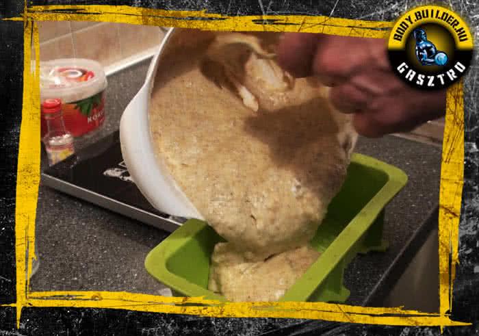 Diós süti elkészítés - VI. lépés