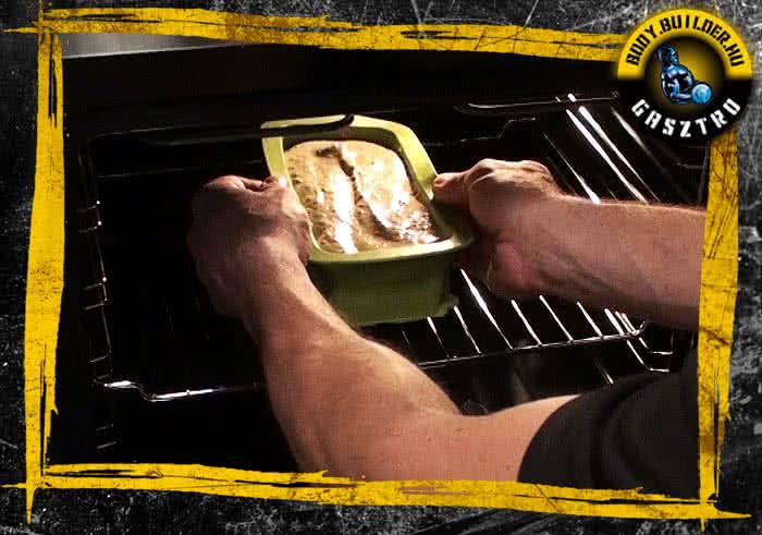 Diós süti elkészítés - VII. lépés