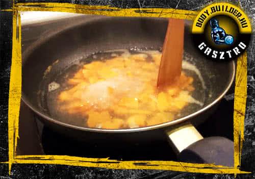 Édesburgonyás pancake elkészítés - II. lépés