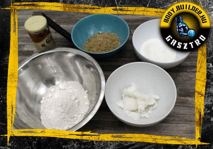 Hozzávalók - proteines császármorzsa recept