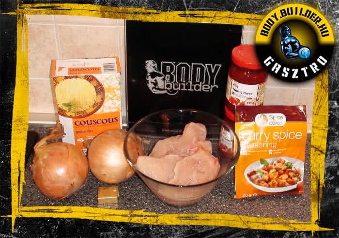 Indiai csirke recept - hozzávalók