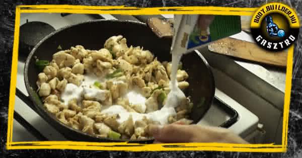 Kókuszos csirke elkészítés