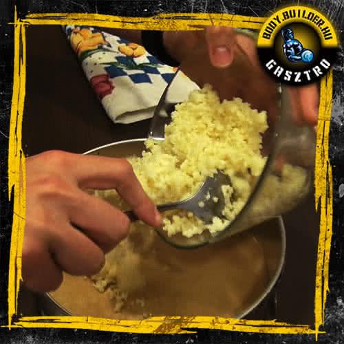 Duplán csokis köles süti elkészítés - II. lépés