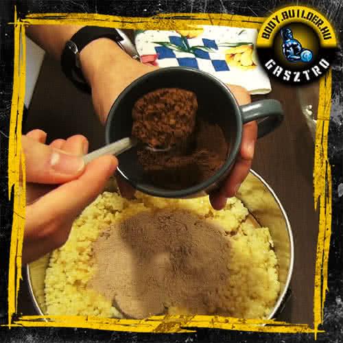 Duplán csokis köles süti elkészítés - IV. lépés