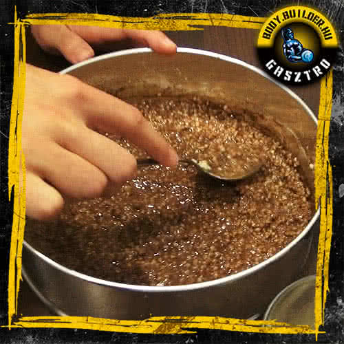 Duplán csokis köles süti elkészítés - V. lépés