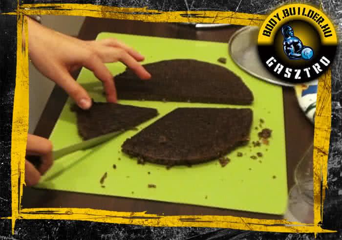 Duplán csokis köles süti elkészítés - befejező lépés