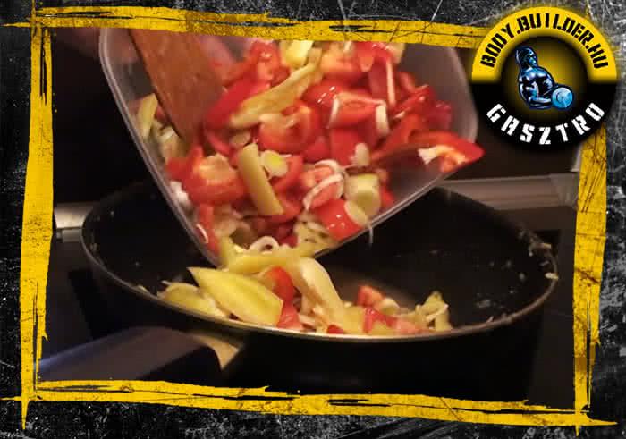 Lecsós csirke elészítés - III. lépés