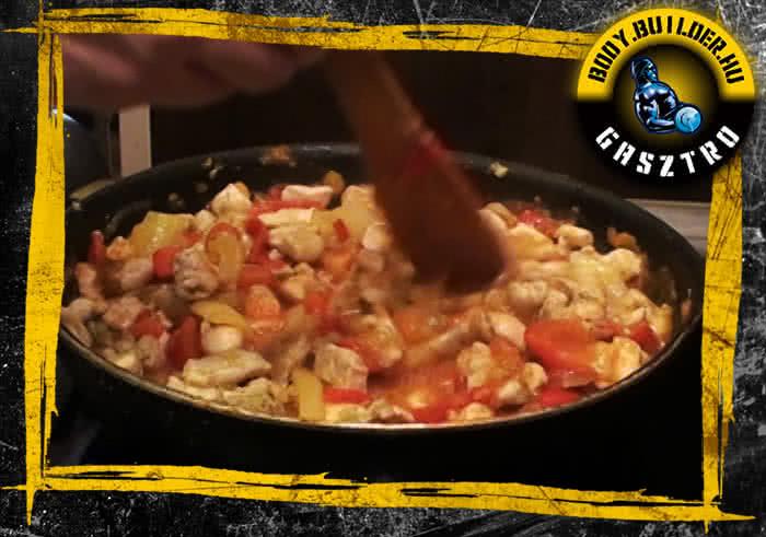 Lecsós csirke elkészítés - V. lépés