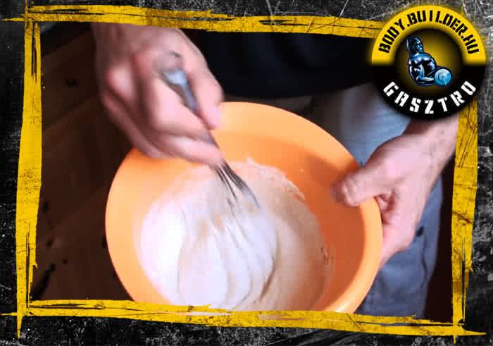 Emeletes marcipános palacsinta elkészítése - I. lépés