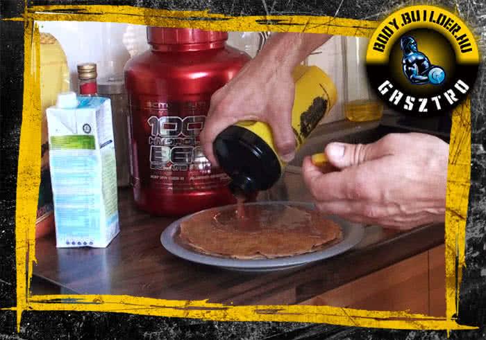 Emeletes marcipános palacsinta elkészítése - III. lépés