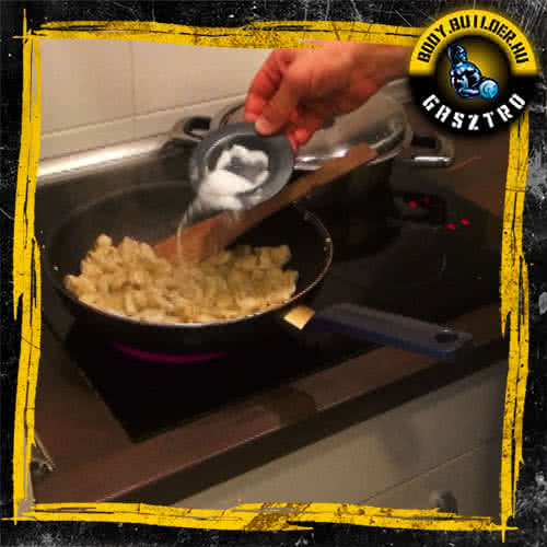 Mézes-mustáros csirkemell elkészítés - II. lépés
