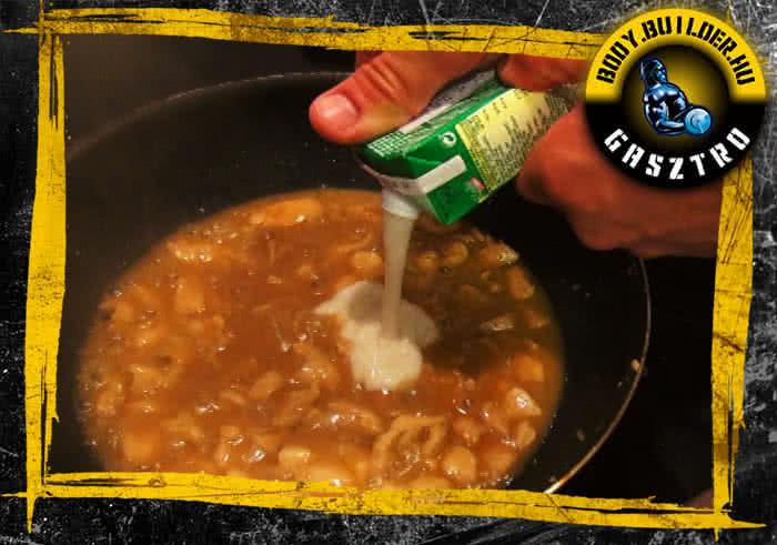 Mézes-mustáros csirkemell elkészítés - IV. lépés