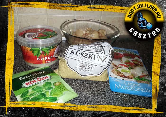 Mozzarellás-bazsalikomos rapid csirkemell recept - hozzávalók