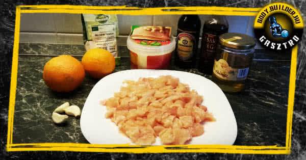 Narancsos csirke recept - hozzávalók