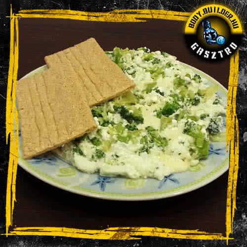 Brokkolis-mozzarellás tojásfehérje omlett - elkészült!