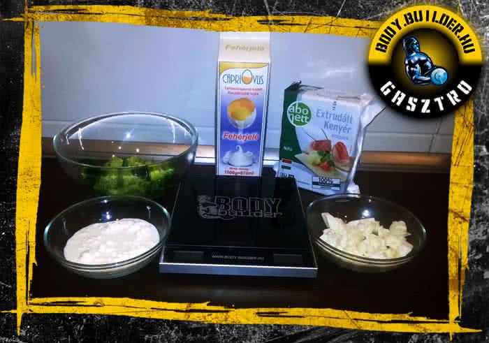 Brokkolis-mozzarellás tojásfehérje omlett - hozzávalók