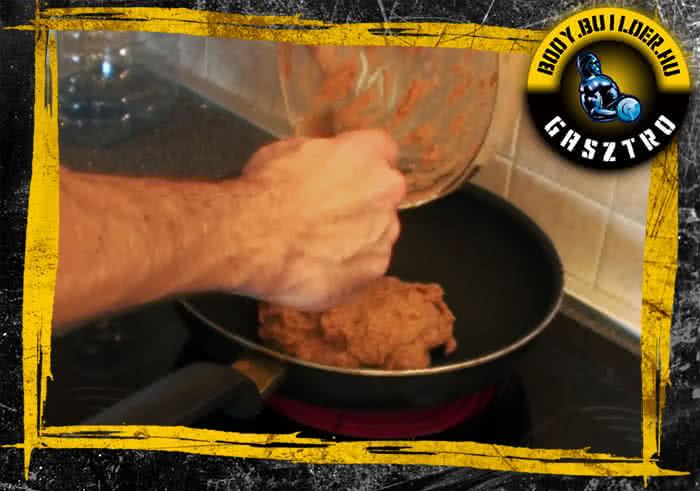 Paradicsomos csirkelepény elkészítés - III. lépés